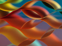 Colorful sheets paper with mirror reflexions Stock Image