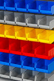 Colorful shelf Stock Image