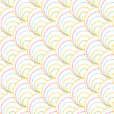 Colorful shell pattern. Based on Traditional Japanese Embroidery. Stock Photos