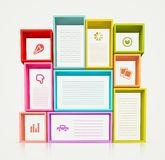 Colorful Shelves Royalty Free Stock Images