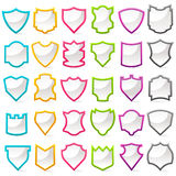 Colorful Shield Collection stock illustration