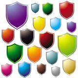 Colorful Shield Icon Collection Royalty Free Stock Image