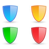 Colorful shield illustration Stock Photography