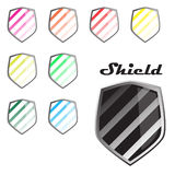 Colorful Shields Royalty Free Stock Photo