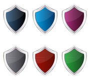 Colorful shields Stock Photography