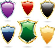 Colorful shields Stock Image
