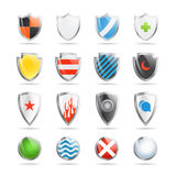 Colorful shields collection Stock Images