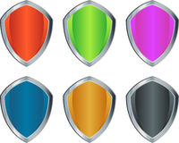 Colorful shields Royalty Free Stock Photography