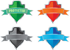 Colorful shields Stock Photo
