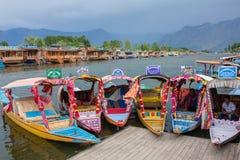 Free Colorful Shikara Boats In Dal Lake, Jammu And Kashmir, India. Stock Image - 115227501