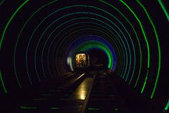 Colorful shining circle tunnel lined background Royalty Free Stock Images