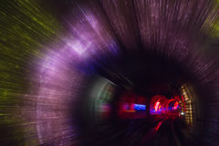 Colorful shining circle tunnel lined background Stock Photography