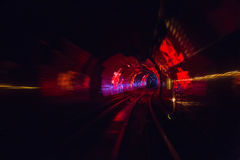 Colorful shining circle tunnel lined background Royalty Free Stock Photos