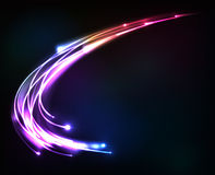 Colorful shining cosmic vector lights Royalty Free Stock Photography