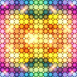 Colorful shining disco lights abstract background Royalty Free Stock Photography
