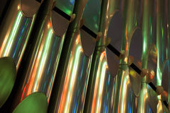 Colorful shining organ in Catholic Church Royalty Free Stock Photo