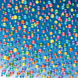 Colorful shiny bubbles. Vector background of colorful shiny bubbles royalty free illustration