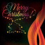 Colorful shiny Christmas background Royalty Free Stock Image