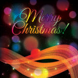Colorful shiny Christmas background Stock Image
