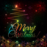 Colorful shiny Christmas background Stock Images