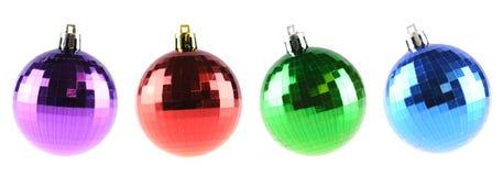 Colorful shiny christmas balls Stock Images