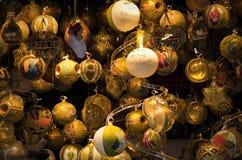 Colorful shiny christmas globes Royalty Free Stock Photos