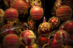 Colorful shiny christmas globes Stock Photography