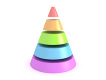 Colorful shiny cone on white background Stock Photo