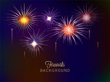 Colorful fireworks background. Colorful shiny fireworks on night background Stock Photos