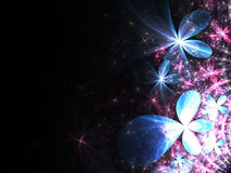 Colorful shiny fractal flowers Royalty Free Stock Image