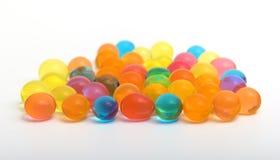 Colorful shiny gel balls Stock Image