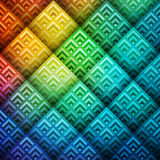 Colorful shiny geometric background Stock Photography