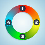 Colorful Shiny Infographic Elements. Royalty Free Stock Images