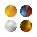 Colorful Shiny Isolated Circles Royalty Free Stock Images