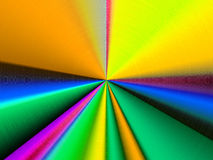 Colorful Shiny Metallic Sunburst Royalty Free Stock Photos