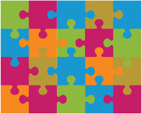 Colorful shiny puzzle Royalty Free Stock Photos