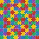 Colorful shiny puzzle  illustration. Royalty Free Stock Photos