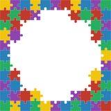 Colorful shiny puzzle  illustration. Royalty Free Stock Image