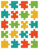 Colorful shiny puzzle 20 Stock Image