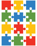 Colorful shiny puzzle 12. Illustration of colorful shiny puzzle, separate parts Royalty Free Stock Photos