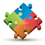 Colorful shiny puzzle. Colorful shiny puzzle vector illustration Royalty Free Stock Images