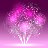 Colorful shiny realistic fireworks bunch background for new year and 4th of july. Colorful shiny realistic fireworks bunch background for new year and 4th of Royalty Free Stock Images