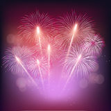 Colorful shiny realistic fireworks bunch background for new year and 4th of july. Colorful shiny realistic fireworks bunch background for new year and 4th of Royalty Free Stock Photos