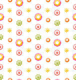 Colorful Shiny Seamless Pattern with Flowers Royalty Free Stock Photos