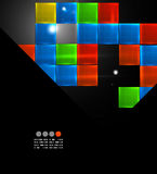 Colorful shiny squares modern design template Stock Image