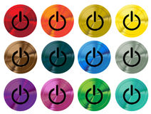 Colorful shiny switch buttons Stock Image