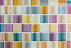 Colorful Shiny Tile Glass Background Texture for Modern Interior Design Stock Photography