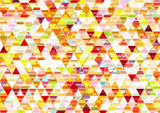 Colorful Shiny Triangular Background. Stock Image