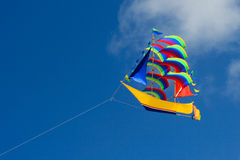 Colorful ship kite. Stock Photos