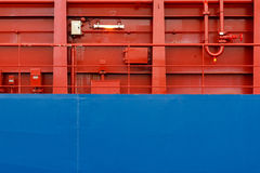 Colorful Ship Wall Stock Photo